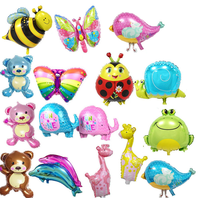 14 type mini bear giraffe ball Elephant butterfly balls aluminum dolphin balls 50*25cm birthday party ball