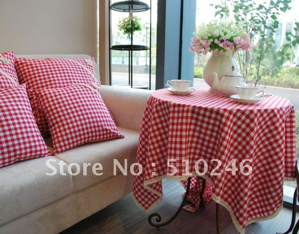 best selling linen cotton 140x180cm red beautiful home decoration hometextile desk table linen table cover tablecloth(China (Mainland))