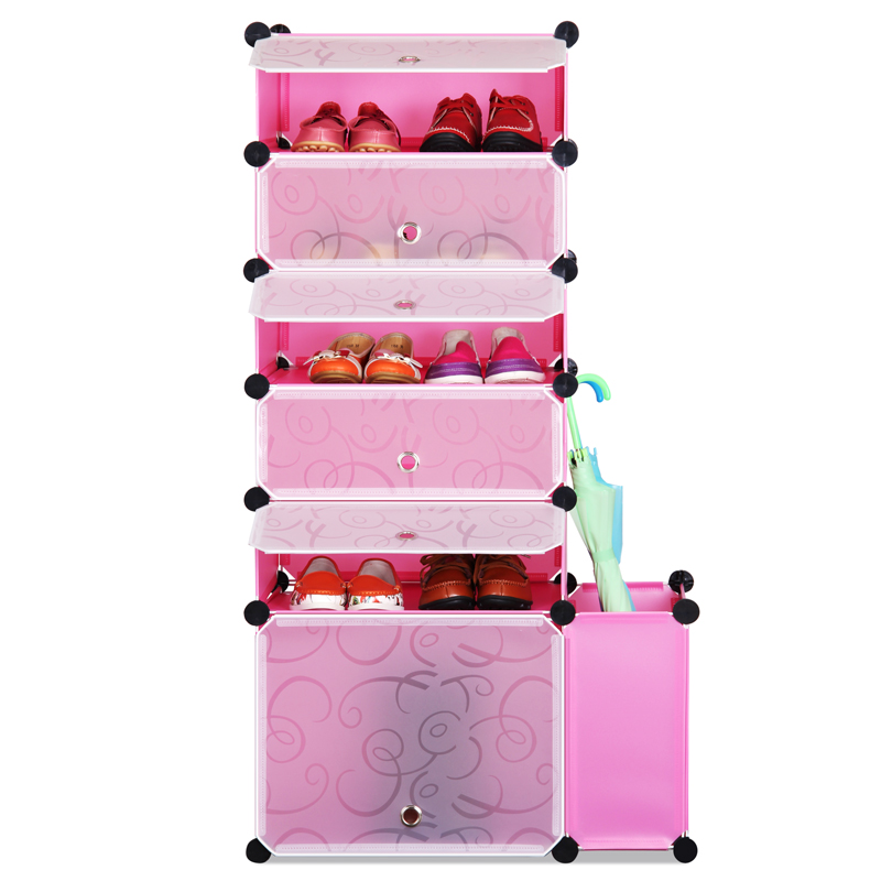 Dust the living room cabinet finishing plastic storage lockers assembled multilayer creative shoe reinforcement fold<br>