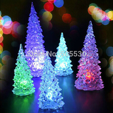 Vintage Crystal Christmas tree LED night light, seven color changing Home Table Lamp decoration(China (Mainland))