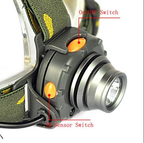 LED IR Infrared Sensor HeadLamp Headlights Climbing ...