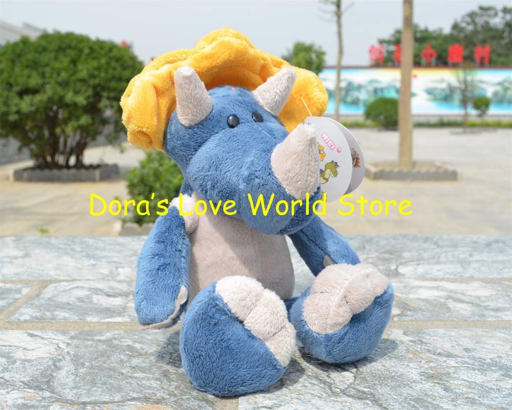 NICI Dinosaur Stuffed Plush Toy, Trevor Triceratops Baby Kids Doll Gift Free Shipping(China (Mainland))