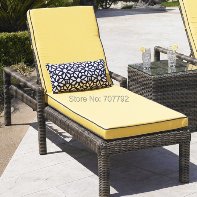 2015 maro wicker garden rattan pool chaise sunbed(China (Mainland))