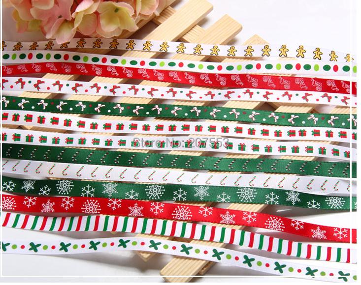 """Nuevo satén cinta de la navidad árboles de la nieve venta al por mayor 3/8 """" ( 9 mm ) 100 yardas niños de embalaje DIY - envío gratis(China (Mainland))"""
