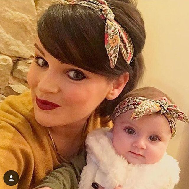 Уха кролика Hairband для матери и ребенка родителей малышей цветок повязки бант аксессуары ...