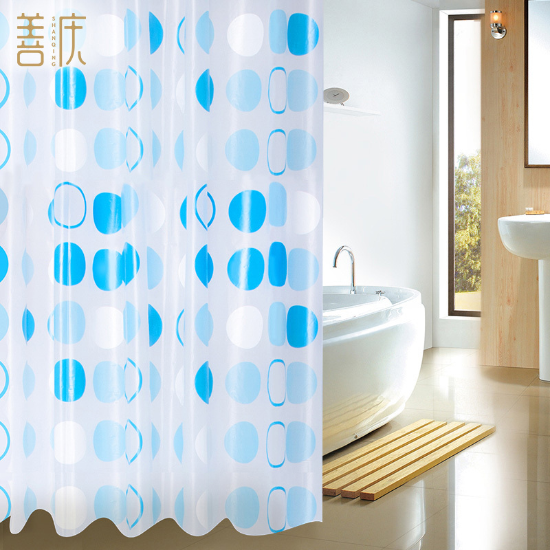 Cortinas De Baño Quality:Blue and White Shower Curtain