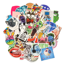 Buy 50 Pieces Repeat Waterproof Fashion cool Fun Stickers PVC sticker Snowboard Laptop Luggage bags handbag Toy Doodle for $2.41 in AliExpress store