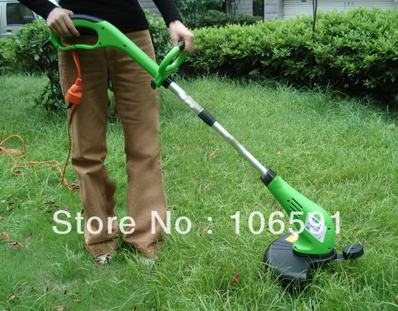 electric wheel brush grass cutter trimmer handle mower 220v/500w hand push cleaner(China (Mainland))