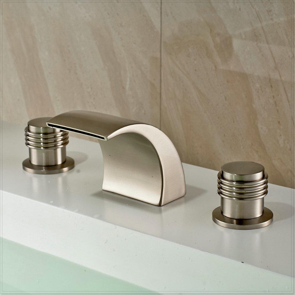 N quel cepillado widespead 3 agujeros grifo lavabo del for Grifo lavabo