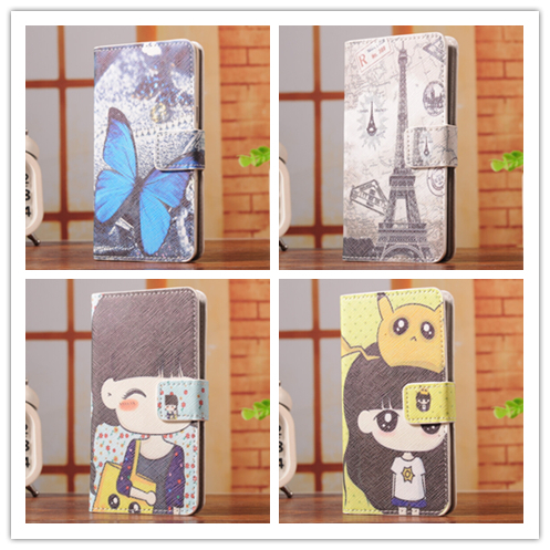 6 Select 1 Fashion Cartoon Trend Stand Holster Back Cover Skin Leather Case For Sony Xperia T Lt30i Lt30p(China (Mainland))