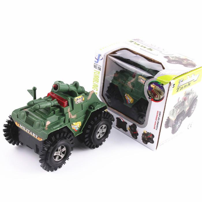 Electric flash stunt skip in tank military model toys simulation model car(China (Mainland))