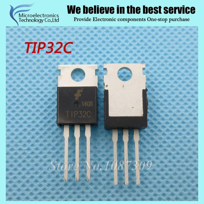50pcs free shipping TIP32C TIP32 TO-220 Bipolar Transistors - BJT NPN Gen Pur Power new original(China (Mainland))