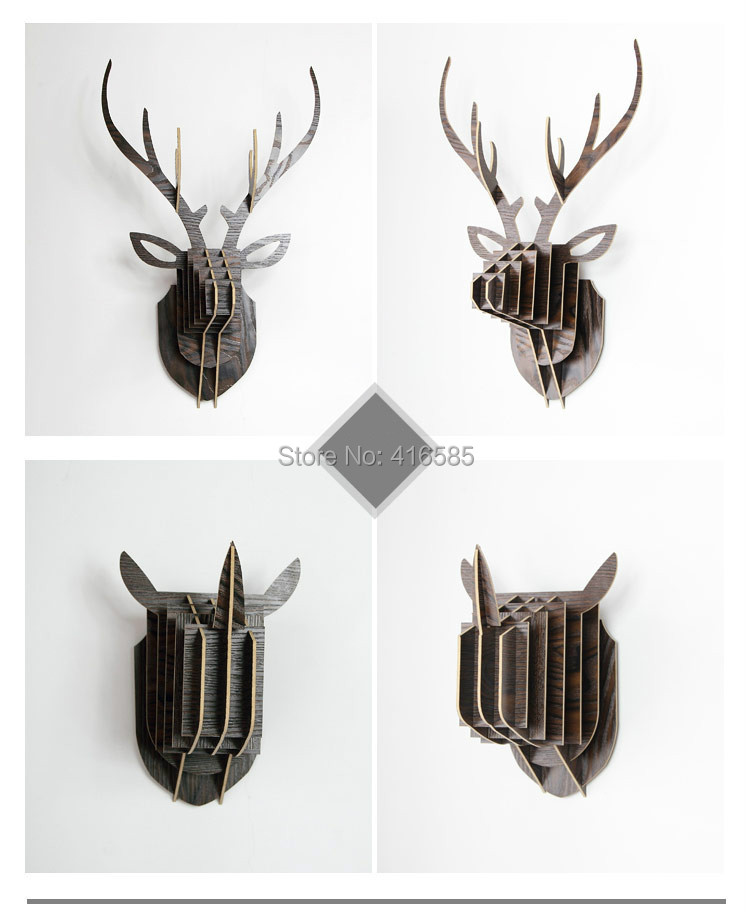 wholesale suit modern animal head 3d wall decoration. Black Bedroom Furniture Sets. Home Design Ideas