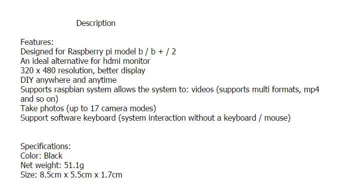 3.5″ TFT LCD Touch Screen Module 320 x 480 SPI RGB Display For Raspberry Pi B B+