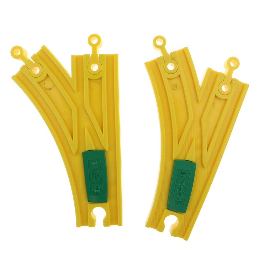 Деревянная железная дорога набор 20 шт игрушечная совместима со всеми основными Wooden Train Track Set 20 Piece Railway Toy Compatible with All Major Brands - Female-Female Adapter Switch Connector - Bridge