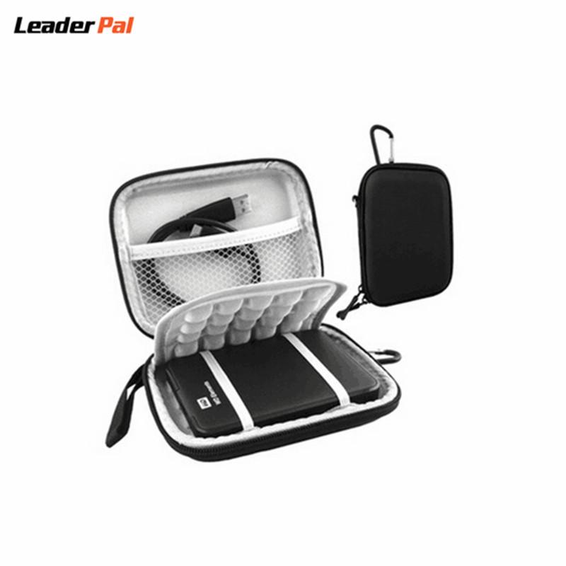 Protective Hard Shockproof Bag Case for 2.5 inch Western Digital WD Seagate Toshiba 1TB 2TB USB 3.0 External Hard Drive Black(China (Mainland))