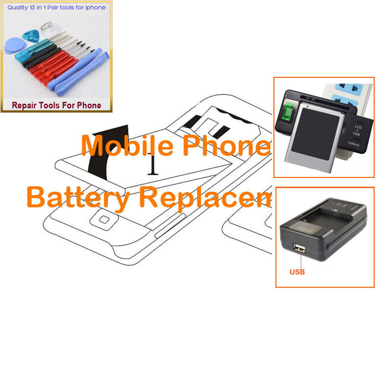 3 PCS = 2 PCS 3.7V battery for MOTOROLA Razr V3xx, Razr V3Z, Razr V3c, Prolife 500, Razr V3i + 1 PCS Universal LCD Charger(China (Mainland))