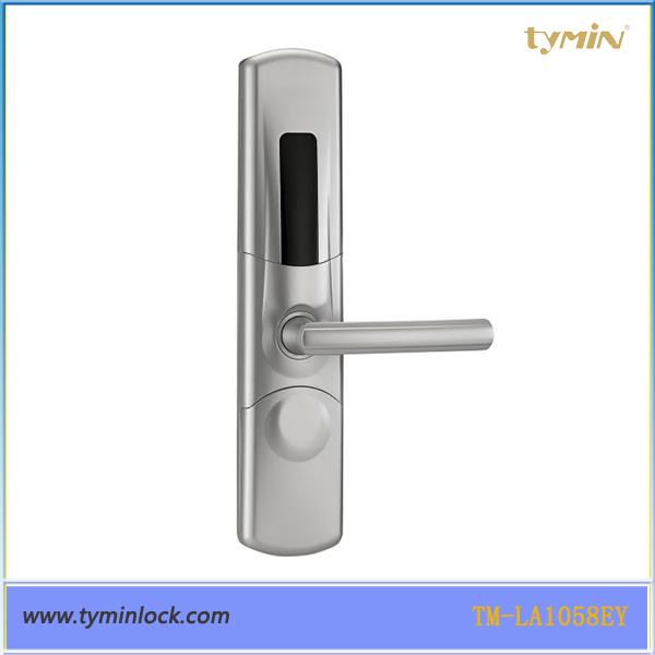 TM-LA1058 Luxury Zinc Alloy key card hotel door lock For Home Office etc, 2pcs keys included(China (Mainland))