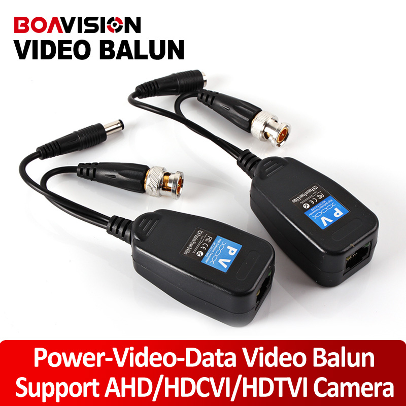 1CH Video Balun Passive Supply Power For High Definition AHD/HDTVI/HDCVI Camera,Power-Video-Data Signal Are Routed Via UTP&RJ4(China (Mainland))