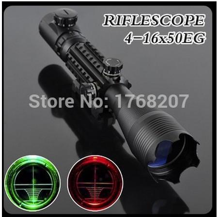 Sniper LLL escopos de visão noturna Air Rifle Gun Riflescope caça ao ar livre telescópio visão de alta mira Reflex Gunsight C4-16X50EG(China (Mainland))