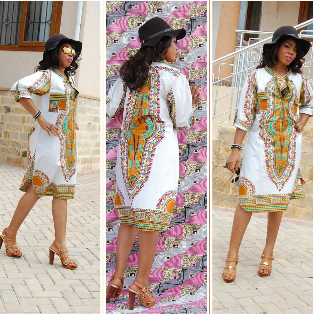 Modern Dashiki Dress