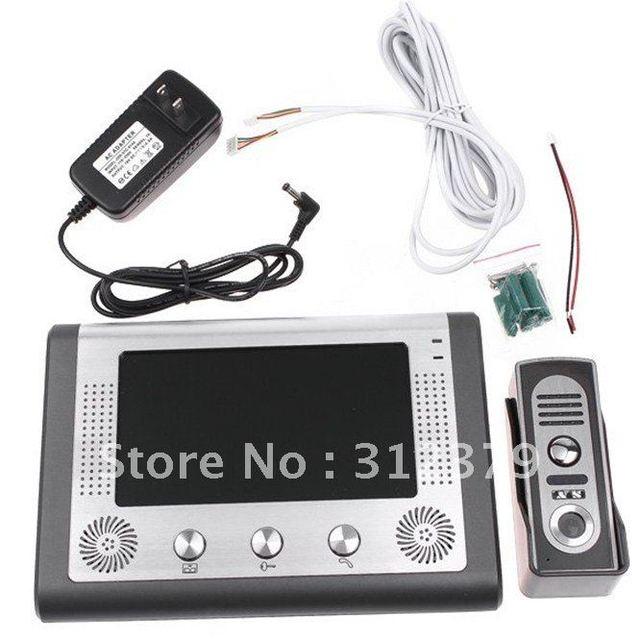 7 Inch Video Door Phone Doorbell Intercom Kit 1-camera 1-monitor Night Vision, freeshipping, dropshipping