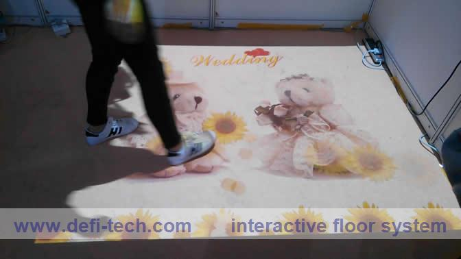 3D interactive projection display system,Free delivery cost and low price interactive projection floor system(China (Mainland))
