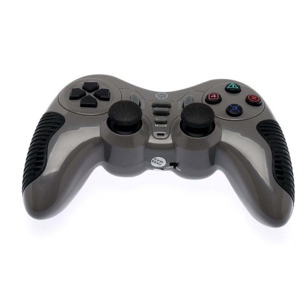 GBB 2015 NEW Arrival Hot 2.4GHZ Wireless Game Controller Gamepad Joypad Joystick PC For PS2/PS3/PC Shock Vibration grey(China (Mainland))