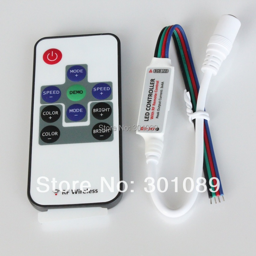 LED mini RF RGB Controller, Rated output current: 2A*3CH, Peak: 4a*3CH(China (Mainland))