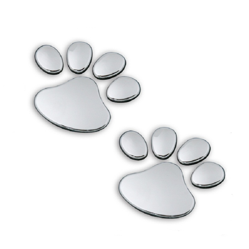 120 pairs lot Wholesale 3d dog paw car auto sticker decals badge for Audi Mazda
