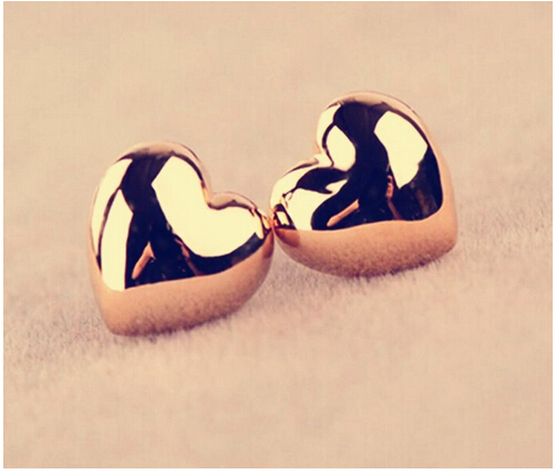 E358 Yiwu Hot Selling Earing New Gold Silver Heart Stud Earrings Personality For Women Wedding Jewelry Accessories Wholesale(China (Mainland))