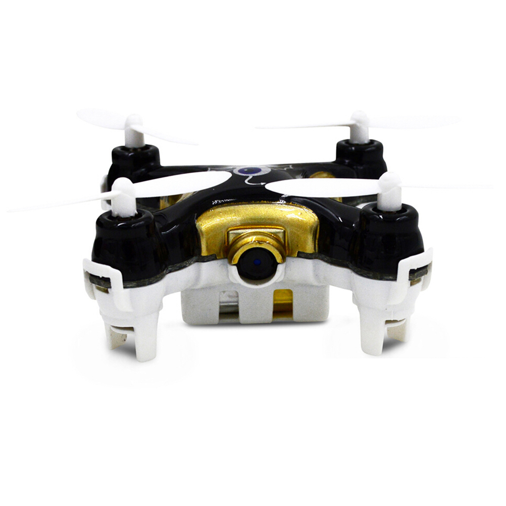 Cheerson CX-10C 2.4GHz 4CH 6-Axis Gyro Super Mini RC Quadcopter UFO Led Light with 0.3MP Camera (Black+Golden)<br><br>Aliexpress