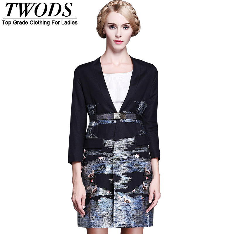 Twods Embroidered 2015 Fashion Fall Blazer Women Veste Tailleur Femme Terno BlazerОдежда и ак�е��уары<br><br><br>Aliexpress