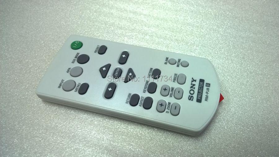 Free Shipping 100% Original Projector remote control RM-PJ8 for SONY VPL-DX120 VPL-EX245 VPL-SW235  D E S Series Projector Parts<br><br>Aliexpress