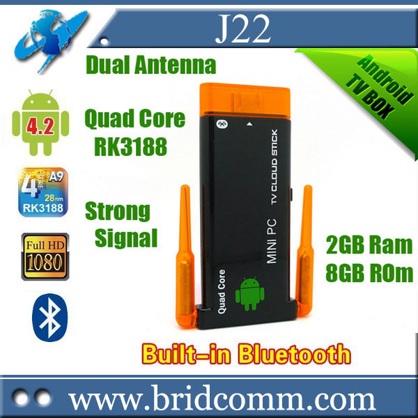 CX919 android tv stick CX919II II Quad core RK3188 Google 4.4 2GB 8GB 1.8GHz Max Bluetooth Wifi Google TV Player HDMI(China (Mainland))