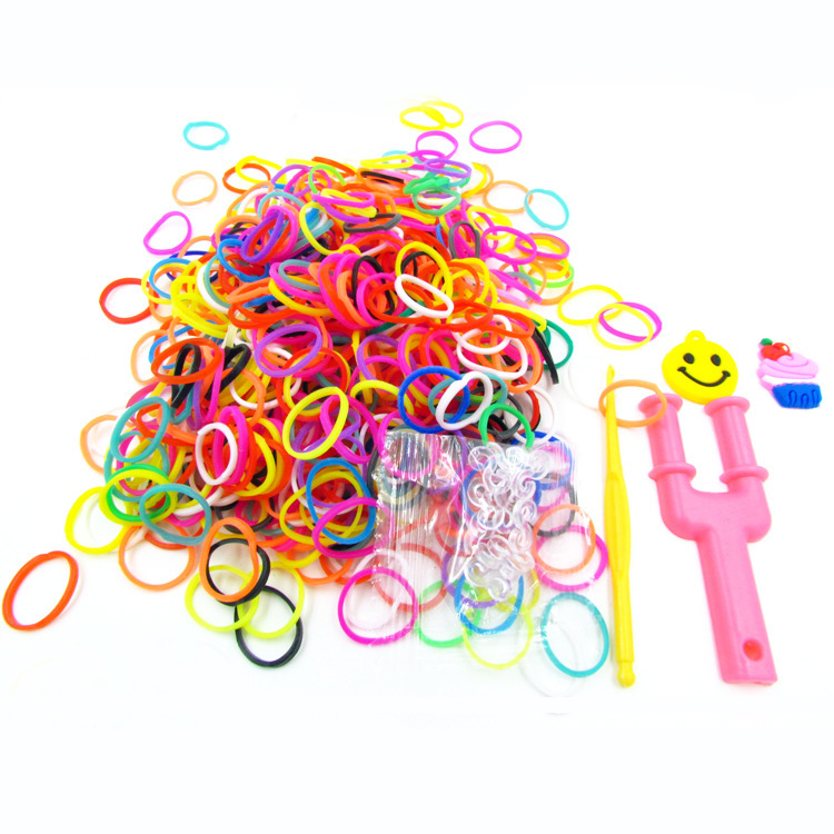 600pcs Fashion Loom Bands silicone gum for bracelets ,sets weaving elastics rubber bands , gum for plaiting(China (Mainland))