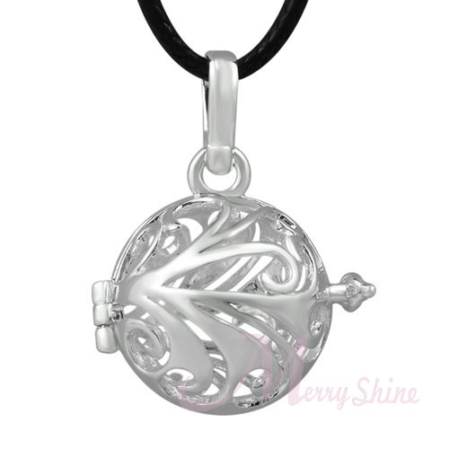 H035 1Piece Antique Locket Pendant For 20/16mm Musical Balls Baby Caller Harmony Bola Mexican Ball Pendant(China (Mainland))