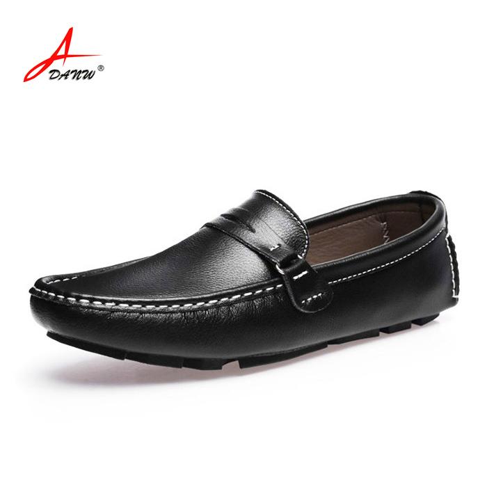 Plus size 47 Genuine Leather shoes men flats shoes men Soft ,Breathable mesh men Loafers slip on  Classical moccasins men shoes<br><br>Aliexpress