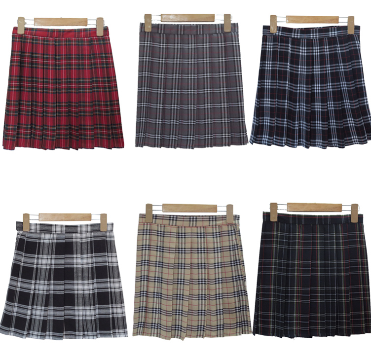 Free Shipping New 2016 Skirts Women HOT SALE Preppy Style Japanese School Uniform Plaid High Waist