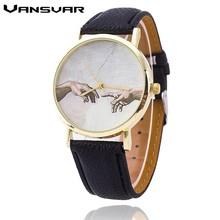 VANSVAR Fashion Women Hand Dial Quartz Watches Leather Casual Wrist Watch Reloj Mujer Relogio Feminino montre Clock 1763