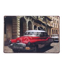 Cuadro Retro Havana Cuba, carteles de estaño, decoración de pared Vintage, pegatinas para Bar, Pub, restaurante, Hotel, decoración, Póster Artístico de Metal YQZ085(China)