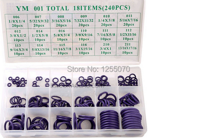 240pcs set Automotive air conditioning compressor plugging aprons O Ring silicone Rubber Seal/ Gasket/ Rubber washer(China (Mainland))