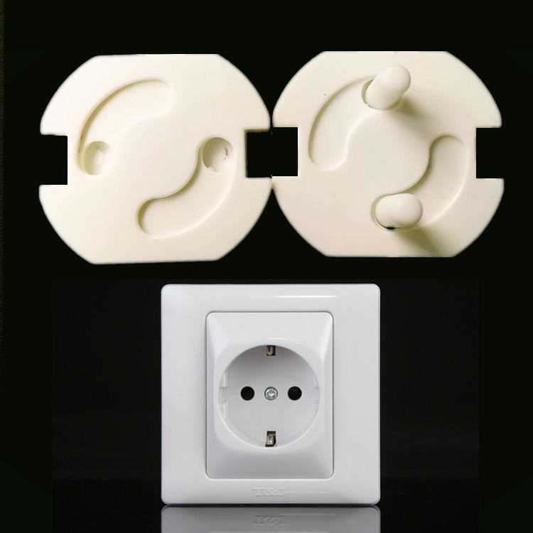 2016 10 PIC/lot 2-hole caps children protection electric shocker Safe round sockets child baby  safety Electric shocker TAQS23