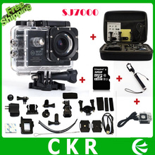 Action Camera  WiFi 1080P Full HD 2.0 LCD 30m Waterproof  Sport extreme +32GB+Monopod+waterproof charge case+extra battery