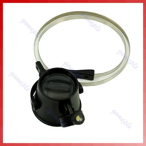 Magnifier 5X LED Eye Loupe Repair Clock Watch Jewllery Free Shipping(China (Mainland))