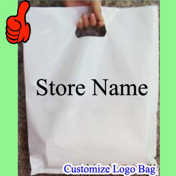 """Custom logo Plastic Bags store name 40cmx50cm (15.75""""x20"""") Apparel Food Grocery clothes Large Handing shopping pouches(China (Mainland))"""
