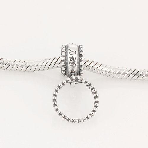 Подходит оригинальный подвески браслет стерлингового серебра 925 бусины принцесса тиара подвеска мотаться шаблон европейский шарм DIY ювелирных изделий