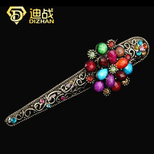 Wholesale Vintage Multi Color Resin Rhinestone hair accessories Flower Hairpins Hair Clips For Women(China (Mainland))