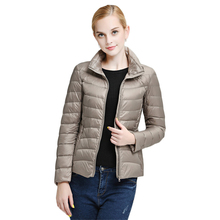 2015 Top Quality Brand Ladies Short Winter Autumn Overcoat Women Ultra Light 90% White Duck Down Coat With Bag ladies' Jackets