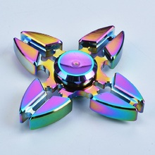 Buy Tri-Spinner Fidget Toys Pattern Hand Fidget Spinner Rainbow Fidget Spinner Metal ADHD Relieve Stress Toys New Gift sss23 for $4.99 in AliExpress store